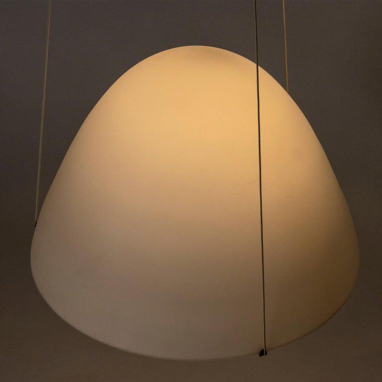 Swedish Opaline Glass Ceiling Lamp by Bertil Brisborg For Sale