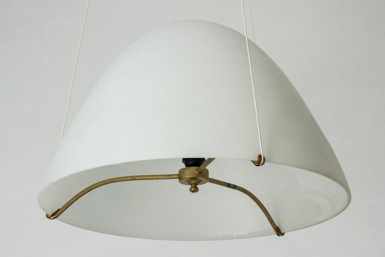 Opaline Glass Ceiling Lamp by Bertil Brisborg In Good Condition For Sale In Stockholm, SE