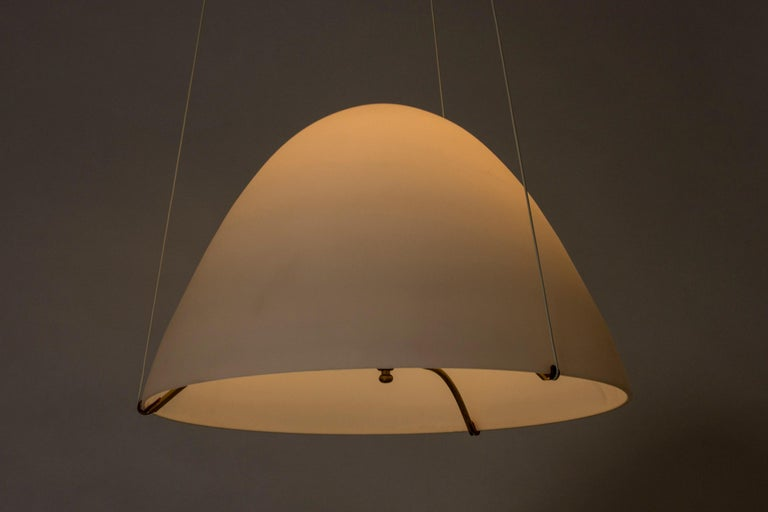 Mid-20th Century Opaline Glass Ceiling Lamp by Bertil Brisborg For Sale
