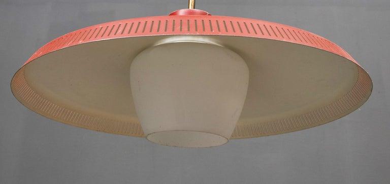 Scandinavian Modern Opaline Glass Pendant Light Bent Karlby for Fog & Mørup For Sale