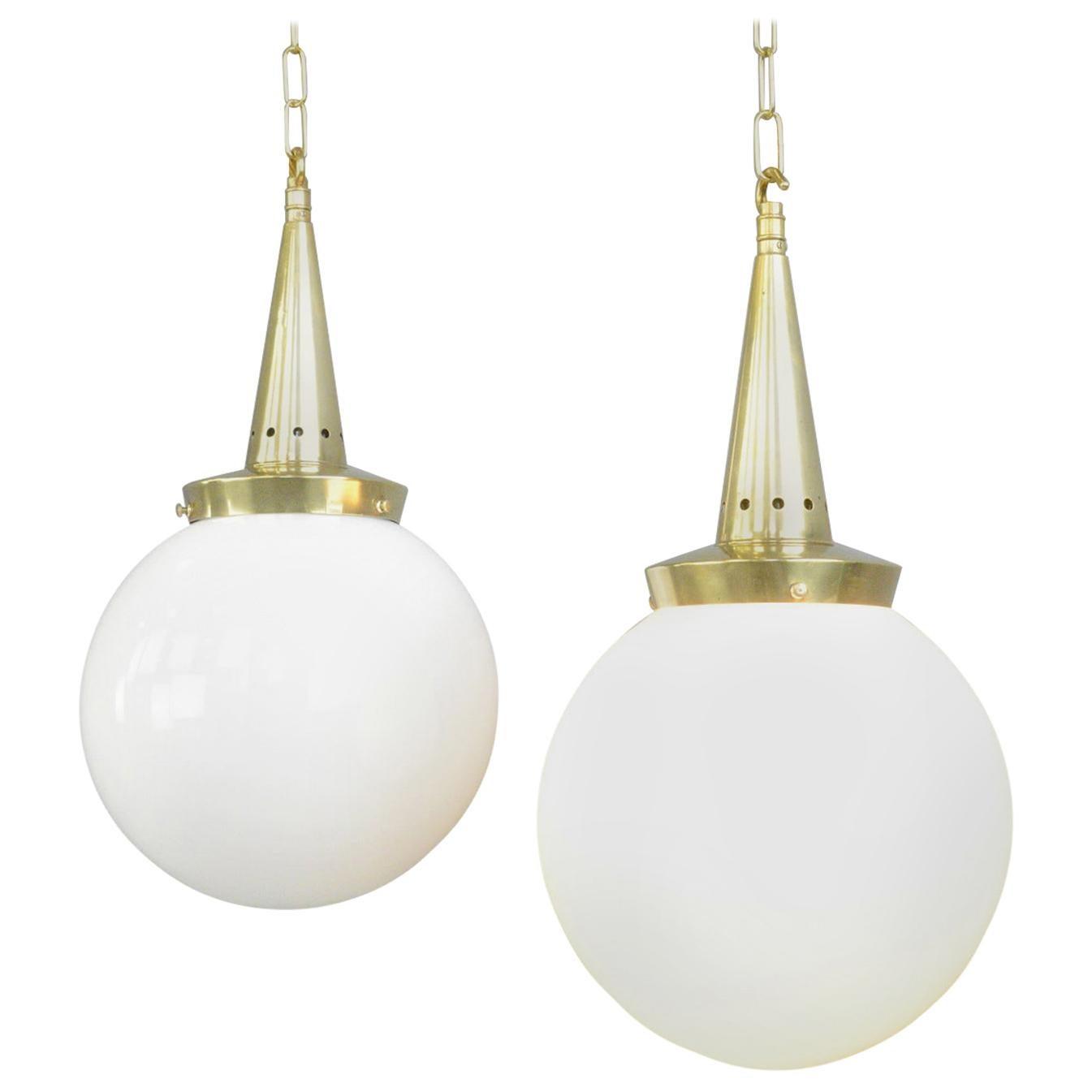 Opaline Pendant Lights by Marianne Brandt for Schwintzer & Gräff