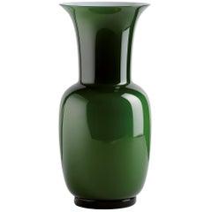 Opalino Glass Vase in Apple Green by Venini
