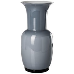 Opalino Glass Vase in Grey by Venini