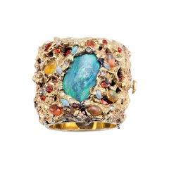 Opals 18 Karat Gold Bracelet
