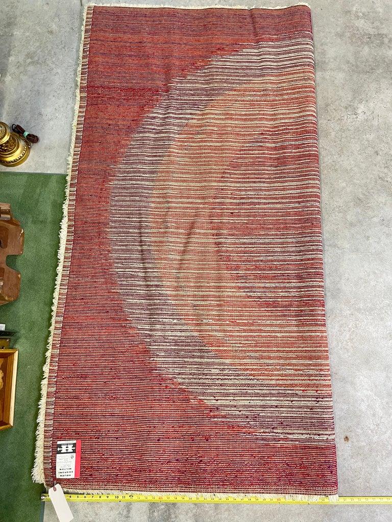 OpArt Danish Rya Bullseye Rug For Sale 4