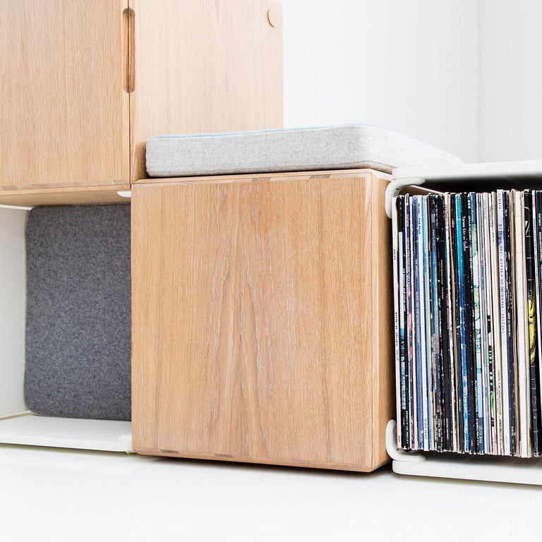 """Measures: 14"""" x 14"""" x 2""""  High-quality Norwegian wool  70% recycled polyurethane foam  Color: Tan  See our store front for the Ope select shelving system this cushion / sound absorber is meant for. This is an accessory product."""