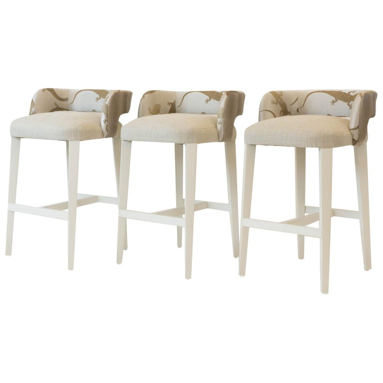 Open Back Bar or Counter Stool For Sale