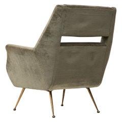 Open Back Lounge Chair, Gigi Radice for Minotti, 1950s