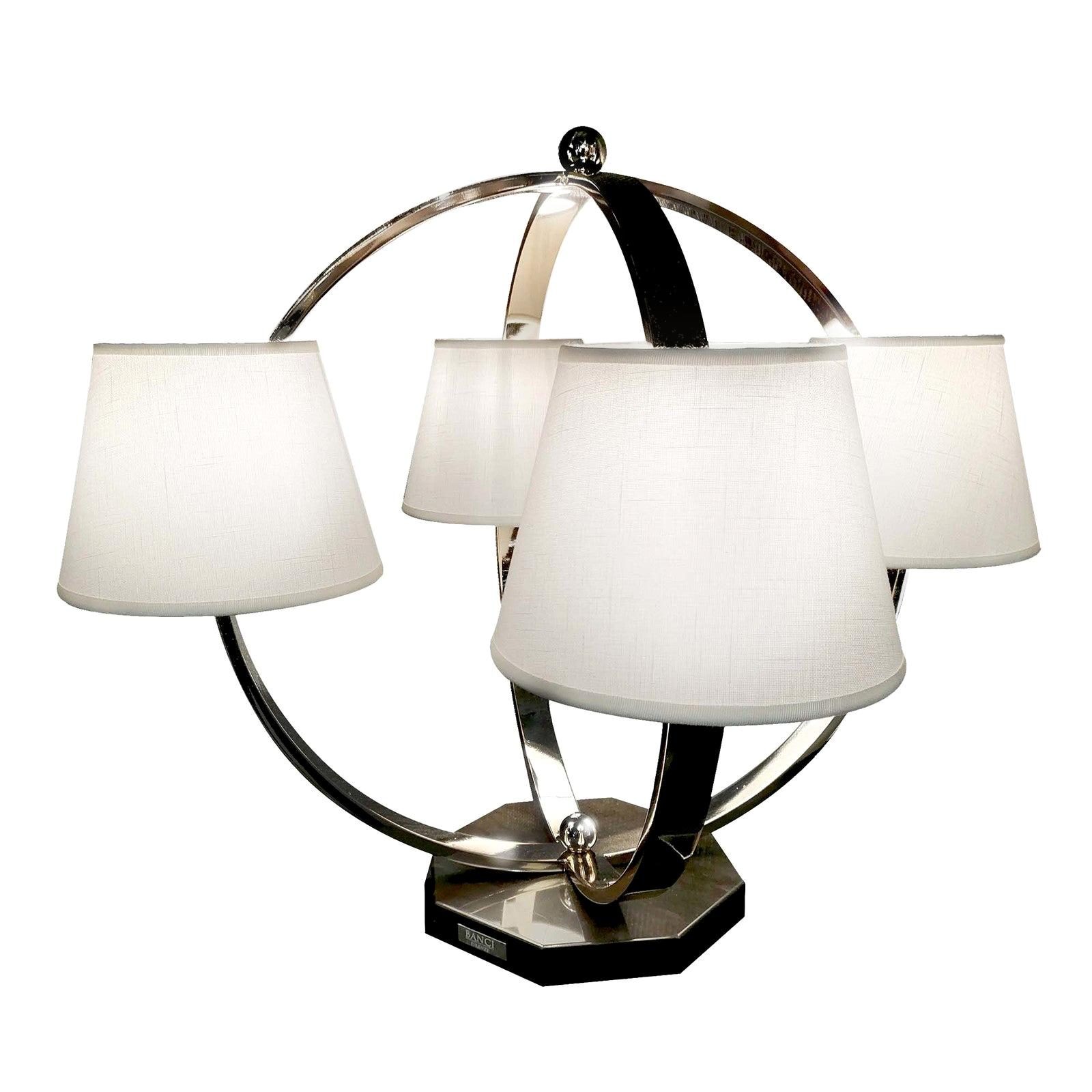 Open Circle 4-light Table Lamp