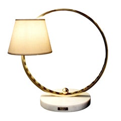 Open Circle Single Light Table Lamp