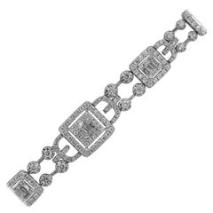 Open Diamond Station Bracelet