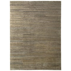 Open Field Modern Rug Beige Brown Silk Texture of Color by Rug & Kilim