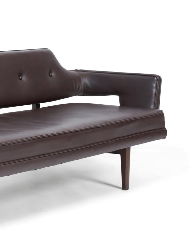 Open Frame Sofa by Edward Wormley for Dunbar In Good Condition For Sale In Chicago, IL