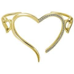 Open Heart Wire Cuff