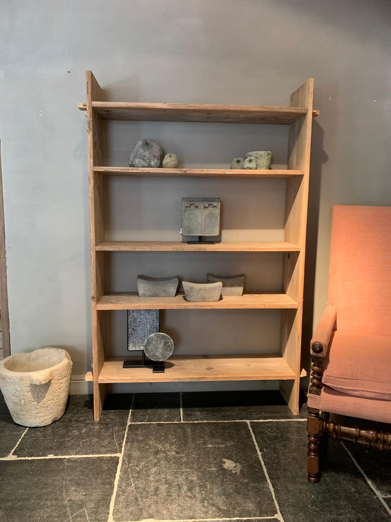 Hand-Crafted Open Rack Shelve Unit Reclaimed Wood For Sale
