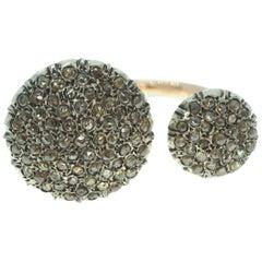 Open Shank Pavé Diamond Ring Made Using an Ancient Technique