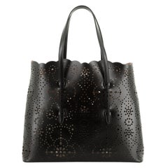 Open Tote Laser Cut Leather Large