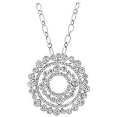 Roman Malakov Open-Work Diamond Circle Pendant Necklace