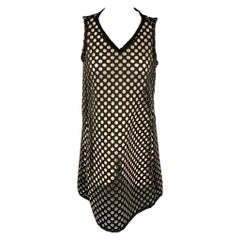 OPENING CEREMONY Size M Black Neoprene Laser Cut Shift Dress