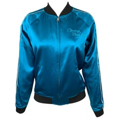 OPENING CEREMONY Size XS Silk Aqua Silk Reversible Jacket
