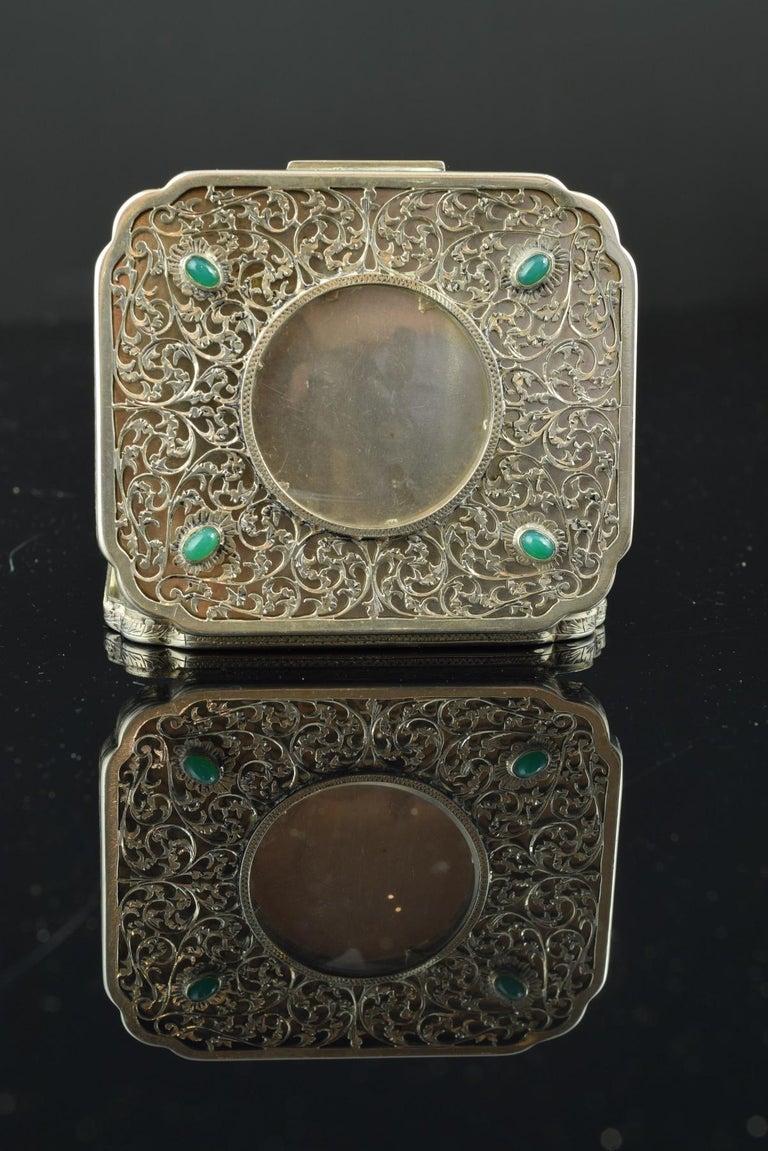 Openwork Silber Box, 19. Jahrhundert 10