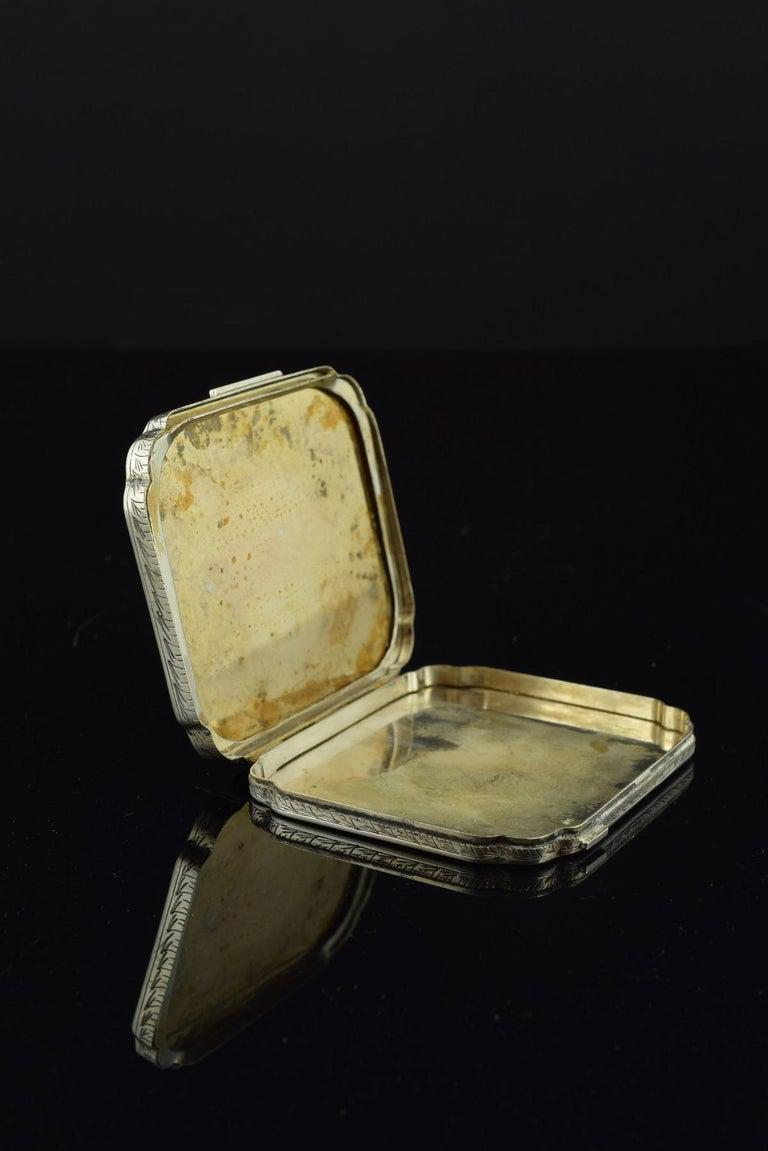 Openwork Silber Box, 19. Jahrhundert 3