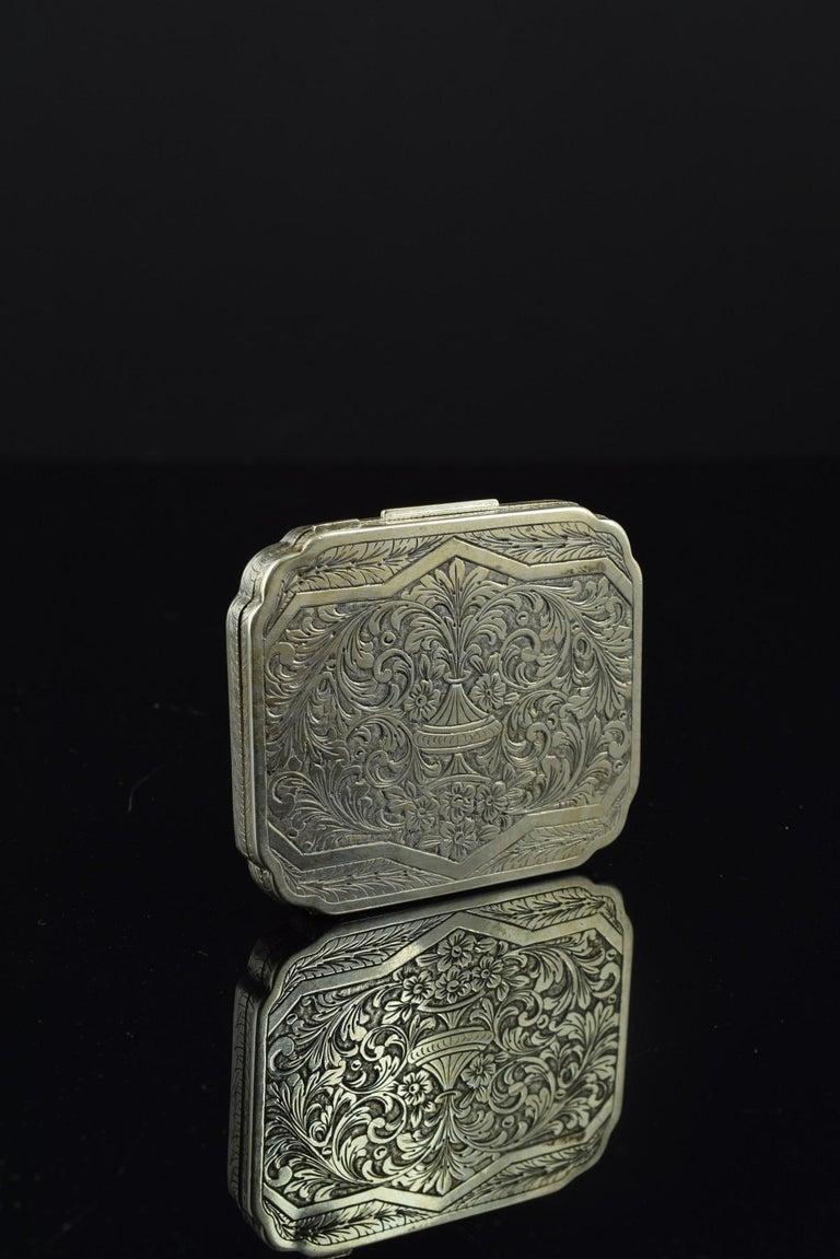 Openwork Silber Box, 19. Jahrhundert 4