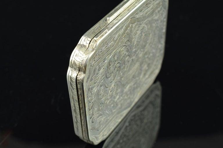 Openwork Silber Box, 19. Jahrhundert 6