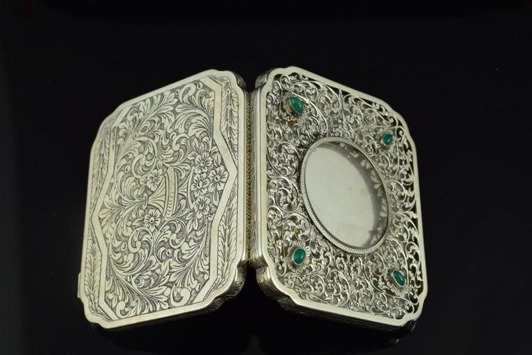Openwork Silber Box, 19. Jahrhundert 8