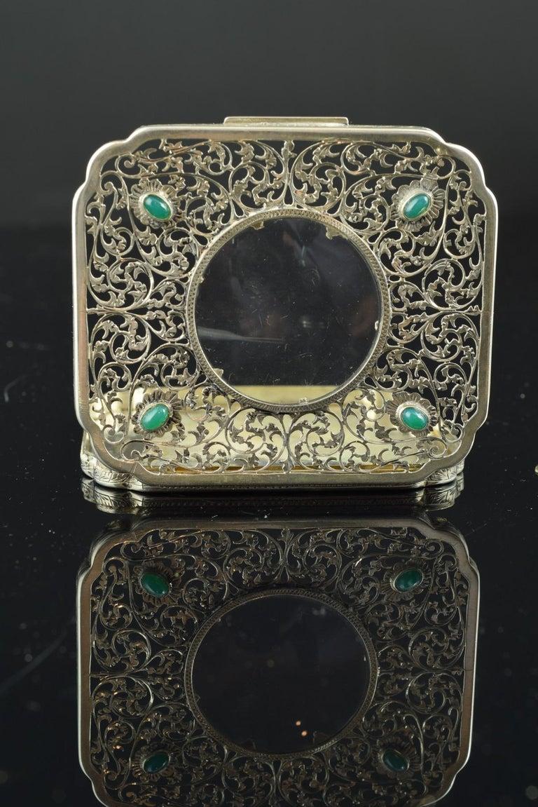 Openwork Silber Box, 19. Jahrhundert 9