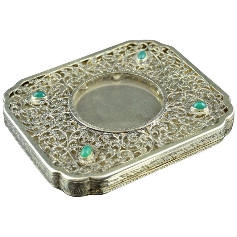 Openwork Silber Box, 19. Jahrhundert 1