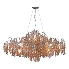 Opera Gold and Amber Chandelier