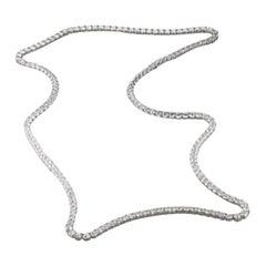 Opera Length 70.60 Carat Round Diamond Tennis Necklace