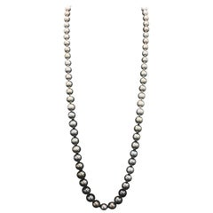 HARBOR D. Opera Ombre Tahitian Pearl Necklace Diamond Clasp