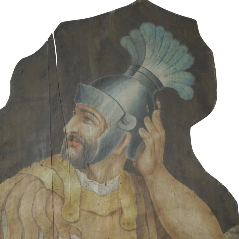 Opera or Theatre Hand-Painted on Wood Dummy Boards, 19th Century In Good Condition For Sale In San Francisco, CA