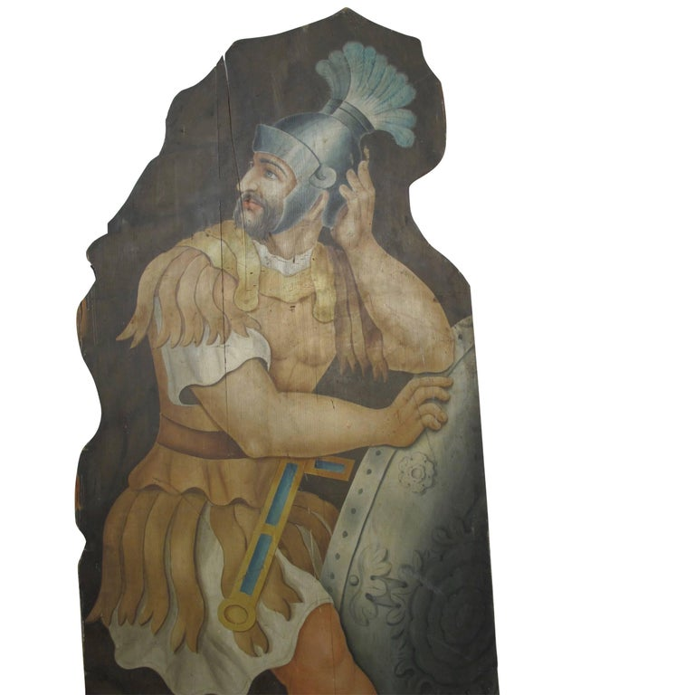 Opera or Theatre Hand-Painted on Wood Dummy Boards, 19th Century For Sale 1
