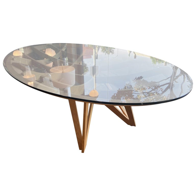 """""""Opera"""" Oval Dining Table Drawn by Mario Bellini For Sale"""