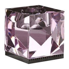 Ophelia Rose Crystal T-Light Holder, Handsculpted Contemporary Crystal