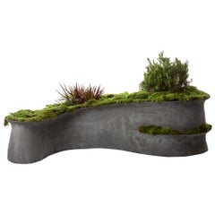 "Concrete Barchan Planter by OPIARY (L73"", W40"", H19"")"