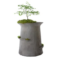 "Modern Concrete Echelon Planter by OPIARY (Medium : DIA 24"",  H 24"")"