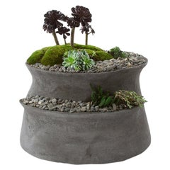 "Opiary Concrete ""Echelon"" Planter (X-Small : D 20"", H 18"")"