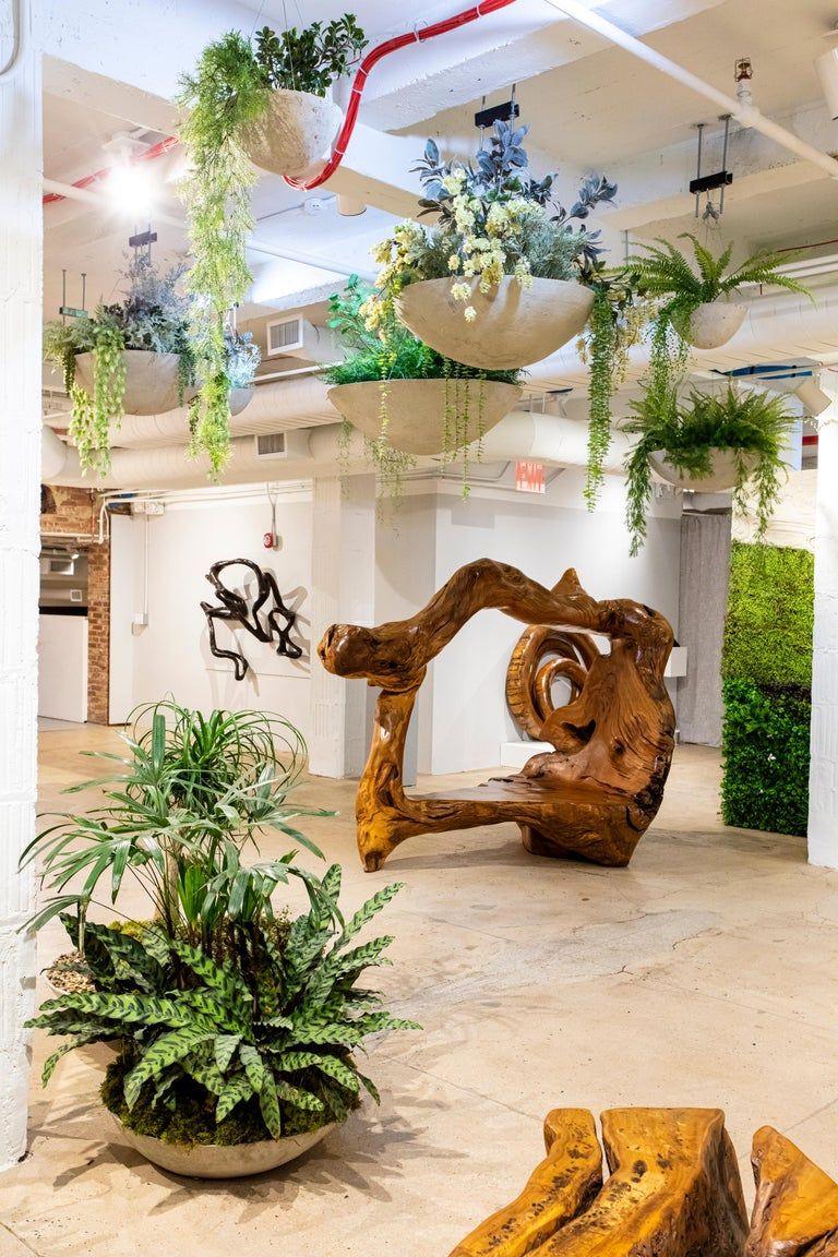 Opiary is a Brooklyn-based biophilic design and production studio. We integratenaturein each of our designs, incorporatinglive greenery and organic shapes into bespoke furniture, planters,and sculpture. Throughthe ethos of biophilia, our
