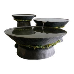 Concrete Three-Tier Ukiyo Fountain by OPIARY
