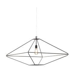 Opinion Ciatti Con.tradition Large Suspension Ceiling Lantern in Black