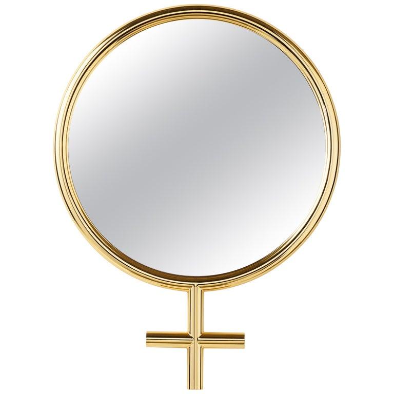 For Sale: Gold (24K Gold) Opinion Ciatti Freedom Female Large Mirror