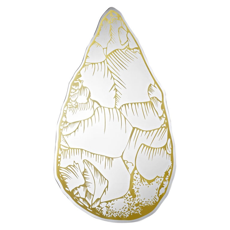 Opinion Ciatti Selce Mirror with Golden Print by Marcantonio For Sale