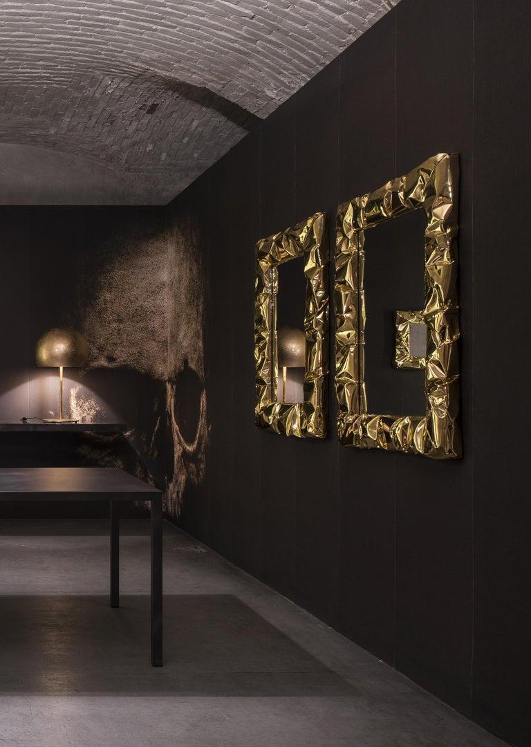 Italian Opinion Ciatti Tab.u Large Square Mirror For Sale