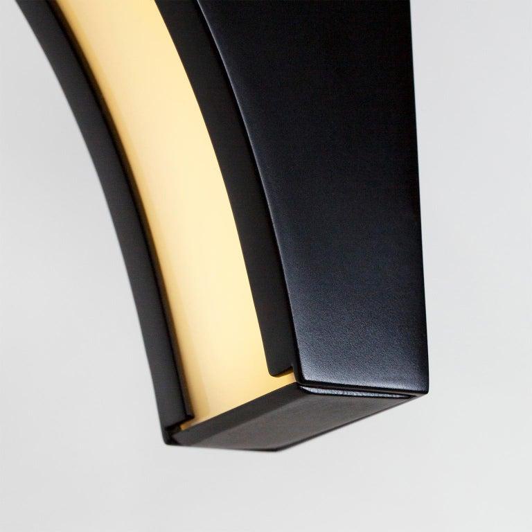 Portuguese Opposite Floor Lamp Silver Portoro Marble Brass Oak Metal Black Lacquered For Sale