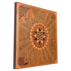Psychedelic Art Optical Illusion Wood Panel 1960s Midcentury Op Art