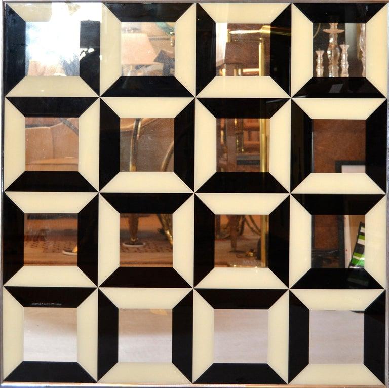 Optical Illusion Diamond Pop Art Mirror in the Style of ...